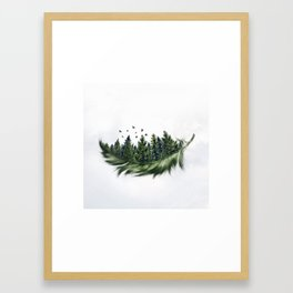 Earth Feather • Green Feather (horizontal) Framed Art Print