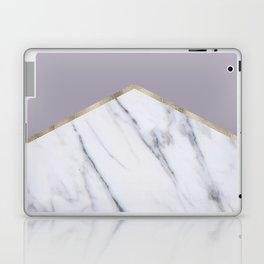 Smokey lilac - gold geometric marble Laptop & iPad Skin
