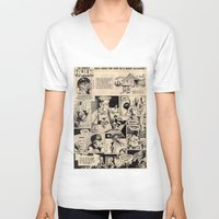 hulk V-neck T-shirts featuring hulk by Pan Trinity Das