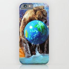 Give Planet Earth A Bear Hug! iPhone Case