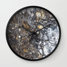 Golden Bubbles Wall Clock