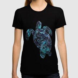 Sea Turtle Blue Watercolor Art T-shirt