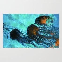 Jellyfish of the Under Sea Volcano Rug