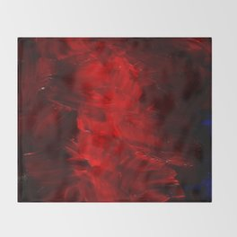 Red Abstract Paint Throw Blanket