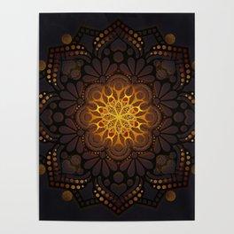 """Warm light Moroccan lantern Mandala"" Poster"