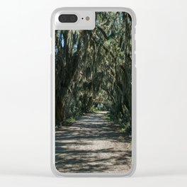 Georgia Spanish Moss Road Clear iPhone Case