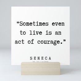2 | Seneca Quotes | 190929 Mini Art Print