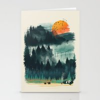 camp Stationery Cards featuring Wilderness Camp by dan elijah g. fajardo