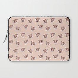Lion Peach Pattern, Safari Baby Animals, Nursery Animals Neutral Kids Room Decor Laptop Sleeve
