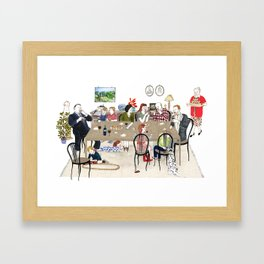 Family Dinner Framed Art Print