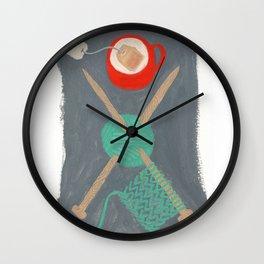 Knit Tea Wall Clock