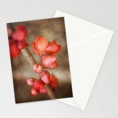Chaenomeles buds Stationery Cards