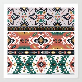 Modern Native American Pattern 1 Art Print