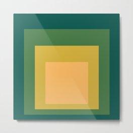 Block Colors - Green Yellow Cream Metal Print