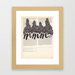 mmm Framed Art Print