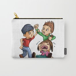 boy protecting girl Carry-All Pouch