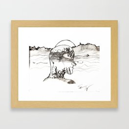 A Voyage (Black and White) Framed Art Print
