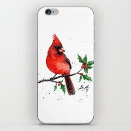 Cardinal + Holly iPhone Skin