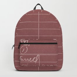 Library Card 797 Negative Red Backpack