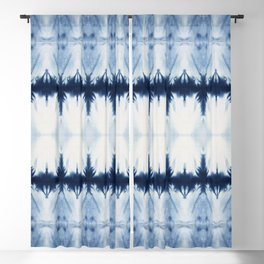 Tribal Shibori Blackout Curtain