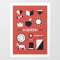 ouat Art Prints featuring OUAT - A Queen by Redel Bautista