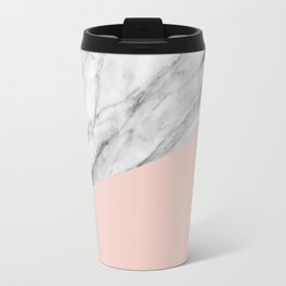 Marble and pale dogwood color Travel Mug