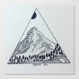Mountain Thank You Canvas Print