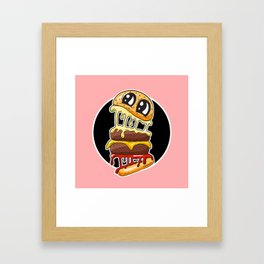 Fast Food FRENZY - Cheezy Gill Framed Art Print