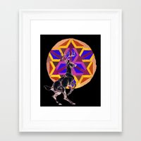 stag Framed Art Prints featuring STAG by The Traveling Catburys