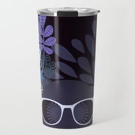 Afro Diva : Lavender Periwinkle Travel Mug