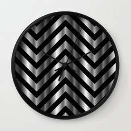 High grade raw material stainless steel and black zigzag stripes Wall Clock
