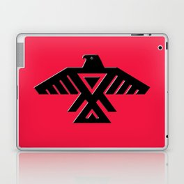Thunderbird flag - Black on Red variation Laptop & iPad Skin