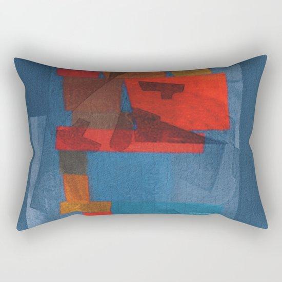 Un Hombre Codicioso y Sus Pensamientos Inútiles  Rectangular Pillow