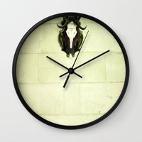 antler Wall Clocks featuring Antler by Jerica