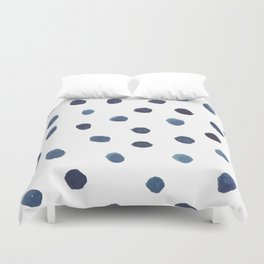 blue dots Duvet Cover