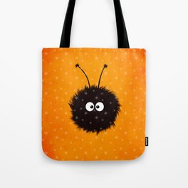 Orange Cute Dazzled Bug Winter Tote Bag