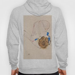 "Egon Schiele ""Nude with Blue Stockings, Bending Forward"" Hoody"