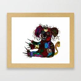 Button pincher  Framed Art Print