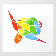 Shapeshifting Turtle Art Print