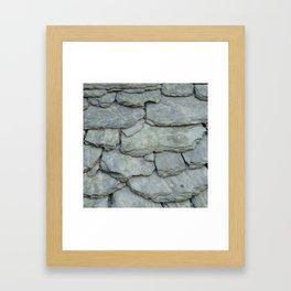 Roof stones Framed Art Print