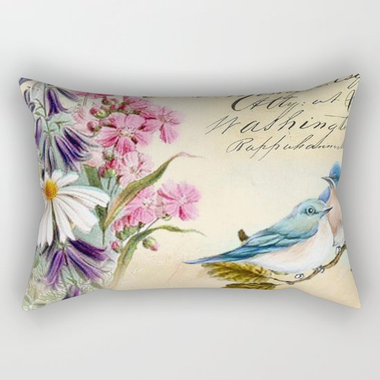 Sweet birds #1 Rectangular Pillow