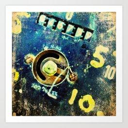Ruined dial detail Art Print