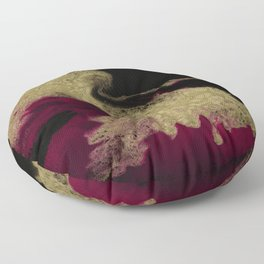 Black Honey - resin abstract painting Floor Pillow