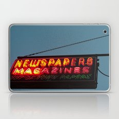 Vintage Neon Newstand Sign ~ Chicago Architecture Laptop & iPad Skin
