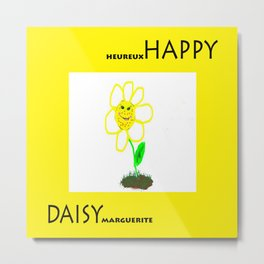 Happy Daisy Metal Print
