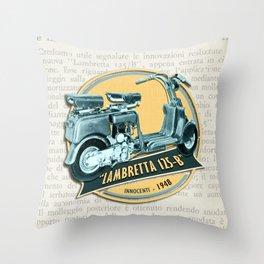 LAMBRETTA 125 B Throw Pillow