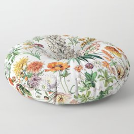 Adolphe Millot - Fleurs B - French vintage poster Floor Pillow