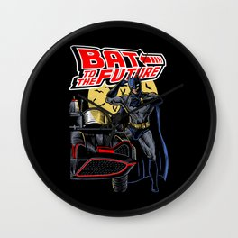 Bat To The Future Wall Clock
