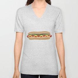 Hot Dog Unisex V-Neck