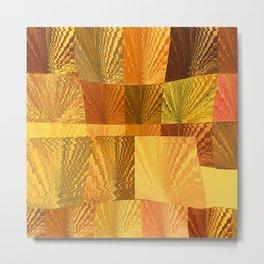 Abstract Digital Artwork Golden State Metal Print